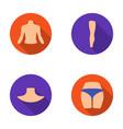 Torso leg neck and buttocks body parts set