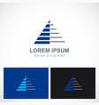 triangle pyramid stripe level company logo vector image vector image