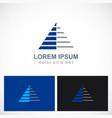 triangle pyramid stripe level company logo vector image