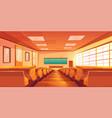 university auditorium cartoon interior vector image vector image