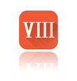 viii roman numeral orange square icon vector image