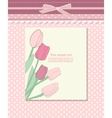 Vintage pink card with tulip vector image vector image