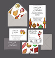 wedding invitation for winter ceremony vector image vector image