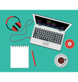Working or studying concept Flat Style vector image vector image