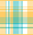 yellow blue lite color pixel plaid seamless vector image vector image