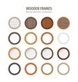Wooden Round Frames Set vector image