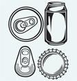 Bottle cap beer vector image