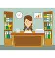 Office worker at work vector image