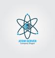atom server vector image vector image
