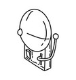 bell icon doodle hand drawn or outline icon style vector image vector image