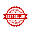 best seller grunge rubber stamp on white vector image vector image