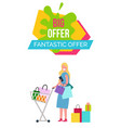 big and fantastic offer on vector image