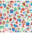 christmas pattern with holiday symbols vector image