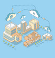 cloud data storage flat isometric vector image