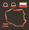 Colors of Poland vector image vector image
