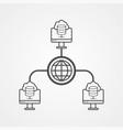 computer network icon sign symbol vector image vector image