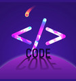 concept code sign in space vector image
