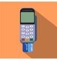Credit card reader Flat style design vector image vector image