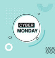 cyber monday advertising banner sale design vector image vector image