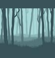 dark foggy forest landscape vector image vector image