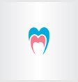 dentist tooth logo symbol element vector image vector image