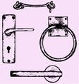 door handles vector image vector image
