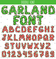 Font garland New Year and Christmas Alphabet vector image vector image