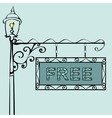 free text on vintage street sign vector image vector image