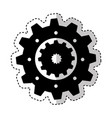 gear setting isolated icon vector image