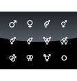 Gender symbol on black background vector image