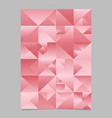 geometrical polygonal abstract triangle poster vector image vector image