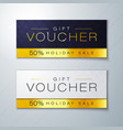 gift voucher template with golden premium pattern vector image vector image