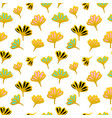 gold flower seamless pattern vector image vector image