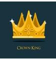 Golden king crown or retro monarch headdress vector image vector image