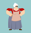 grandmother strong cool serious grandma smoking vector image vector image