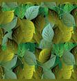 green leafy seamless pattern vector image vector image