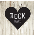 Hard rock wooden concept heart vector image vector image