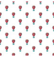 hot air balloon pattern seamless vector image
