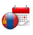 Icon of National Day in Mongolia vector image vector image