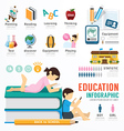 infographic education template design concept vector image vector image