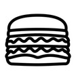 isolated hamburger icon vector image vector image
