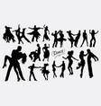 latin dance tango salsa silhouette vector image