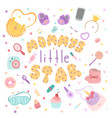 lettering composition mammys little star vector image