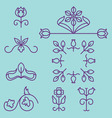 Linear set of elegant ornaments and elements vector image