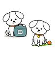 Little White Dog vector image