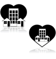 Love the neighborhood vector image vector image