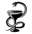 Medicine symbol - snake on cup vector image vector image
