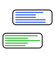 message boxes icon vector image