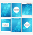 minimal brochure templates magazine leaflet vector image vector image