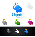 painting business logos vector image